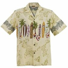 Big and Tall Maui Surfboard Hawaiian Aloha Shirt