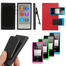 Soft TPU Gel Case Cover Skin + Belt Clip For Apple iPod Nano 7 7th Dust proof
