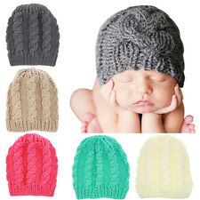 Toddler Baby Kid Boys Girls Winter Warm Knit Beanie Hat Knitted Crochet Ski Cap