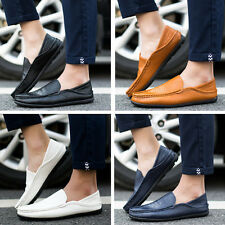 Men's Driving Leather Shoes Lazy Peas Casual Loafers Comfortable Moccasins Flats