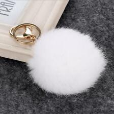 Sweet Artificial Rabbit Fur Balls Pompom Key Chain Car Key Ring Bag Charm Gift