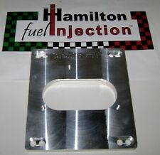 CnC machined 4 BBL TBI adapter for BBC 454/7.4l  Hamilton Fuel Injection
