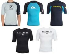 BILLABONG QUIKSILVER VOLCOM Men's Short Sleeve Rashguards