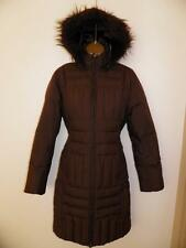 M & S Per Una Brown Padded Duck Down & Feather Coat Jacket size Small