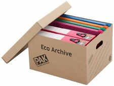 Archive Storage Boxes Cardboard Office Home Document Filing Organiser Pack of 10