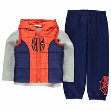 Boys Character 3 Piece Gilet Outfit Spiderman New With Tags