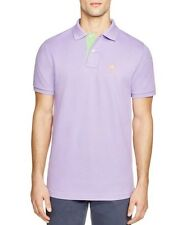NEW PSYCHO BUNNY BY ROBERT GODLEY VIOLA PURPLE ST. BARTHS GOLD BUNNY POLO SHIRT
