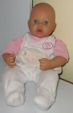 "2002 Zapf Creations AG 16"" Interactive Baby Annabell Doll Clothed Used Toy Works"