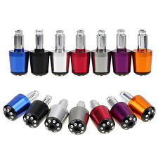 "Universal Motorcycles 7/8"" Handle Bar Ends Caps Plugs Sliders Aluminum 7 Colors"