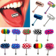 Rock Stainless Steel Vibrating Tongue Ring Bar Barbell Body Piercing Jewelry
