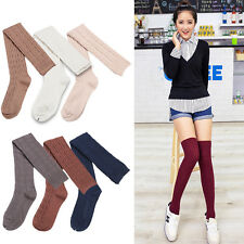 Ladies Girls Over Knee Warm Socks Thigh High Ribbed Soft Cotton Long Stockings