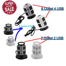 LOT Vertical Tower Socket USB Smart Charger Protector Multi-outlet Power Strip A