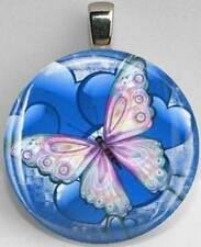 Handmade Interchangeable Magnetic Butterfly #8 Pendant Necklace