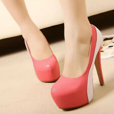 Women's New High Heels Platforms Mixed Colors Sandals Fashion Stylish Shoes Chic