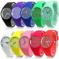 Jelly Women Dial Analog  Sports Silicone Band Quartz Geneva Wrist Watch