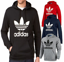 Adidas Originals Mens Trefoil Fleece Hooded Sweatshirt Hoodie Size S M L XL 2XL