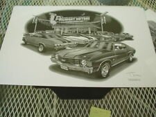 "1972 Chevelle SS #1226 Thom SanSoucie Signed Print, 11"" x 17"", Flashbacks series"