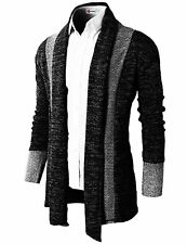 H2H Mens Casual Slim Fit Knit Cardigan W/ Double Shawl Collar - Choose SZ/Color