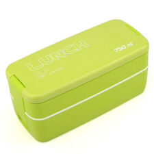 Japan Style Double Tier Bento Lunch Box 750ml Meal Box Food Storage Container