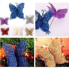 Pack of 6pcs Christmas Glitter Hollow Butterfly Xmas Tree Hanging House