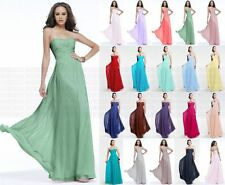 New Formal Long Evening Ball Gown Party Prom Bridesmaid Dress Size 6 -18