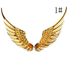 Angel wings 3D Alloy  Emblem decal sticker silvery for car Motorcycle auto Truck