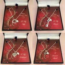 Valentines Gift for Wife, Girlfriend, Fiancee. Real Silver Necklaces. Romantic.