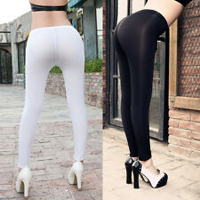 Women Sexy Lingerie Transparent Stretch Skinny Long Pants Leggings Slim Trousers
