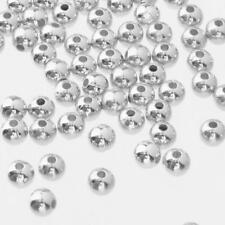 Wholesale 1000Pcs Round Metal Ball Spacer Beads Jewelry Making Findings 4/6mm