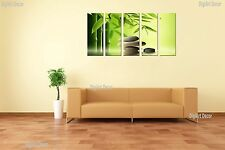 Zen Stones & Bamboo 5 panel mounted on fiberboard canvas art/surpassed stretched