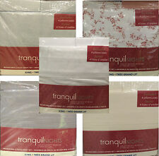 New! Tranquil Nights Luxury Weight Bedding Microfiber 6-Pcs Sheet Set - King