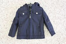 NWT Urban Republic Baby Boys Navy Blue Hooded Wool Blend Jacket Coat 12M or 18M