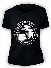 Midnight Party Time Ladies T-Shirt S-2XL Womens