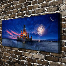 Canvas HD Picture Print Art Painting Unframed, Castle 10''X24''