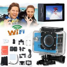 Mini 2'' HD 1080P WiFi Waterpoof Sports Camera Helmet Action DV Video Camcorder