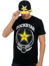 NEW MENS FACTORY EFFEX ROCKSTAR IMPERIAL TEE - BLACK - MEDIUM/LARGE - TSHIRT