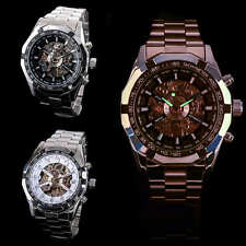 Sport Skeleton Dial Mens Stainless Steel Automatic Mechanical Wrist Watch