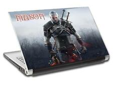 The Witcher Geralt Personalized LAPTOP Skin Vinyl Decal Sticker ANY NAME L342