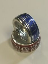 NEW! Colorized Armed Forces Military Coin Rings