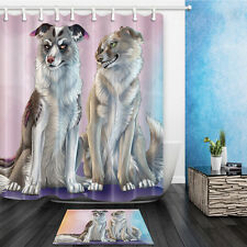 Provocative Wolf Design Bathroom Bath Waterproof Fabric Shower Curtain Set Lots