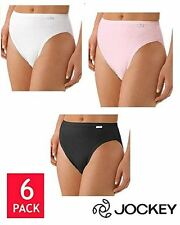 Jockey Women's Elance French Cut 6 Pack Underwear Black White Pink Select Size