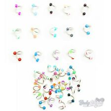 10/20/30/60 Spiral Circular Bars Belly Navel Twister Body Piercng Surgical Steel