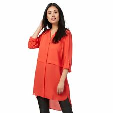 The Collection Womens Red Double Layer Longline Tunic From Debenhams