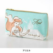 DISNEY Mickey Rapunzel Ariel Alice Pen Case Pencil Makeup Pouch from Japan E2038