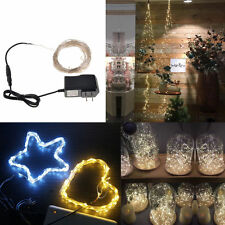 100LED Copper Waterproof Xmas Party String Fairy Wedding Decor Lights Lamp 10M