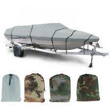 Waterproof Anti-UV 11-13/14-16/17-19/20-22ft Fish-Ski V-Hull BOAT COVER Storage