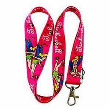Wholesale Pink Tinkerbell Neck Lanyard Strap Cell Phone ID Card Keychain + Charm