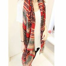 Graceful For Women Retro Beach Shawl Scarves Voile Soft Silk Scarf Bohemian