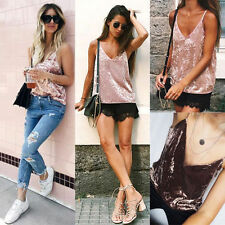 Sexy Women Velvet Strap Sleeveless Top Vest Tank Slim Blouse Camisole Party Club