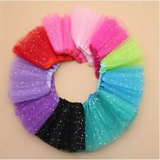 Party Costume Ballet Dancewear Bling Sequin Tulle Tutu Skirt Princess Dressup